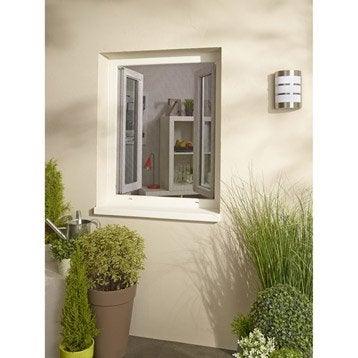 Moustiquaire pour fenêtre avec fixation auto-agrippante H.130 x l.120 cm