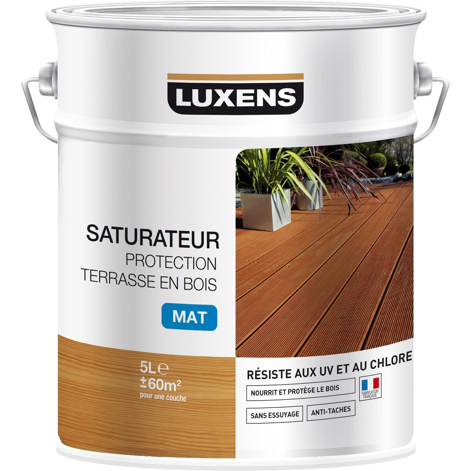 Attrayant Saturateur LUXENS Saturateur Protection Terrasse En Bois 5 L, Teck ... Belle Conception