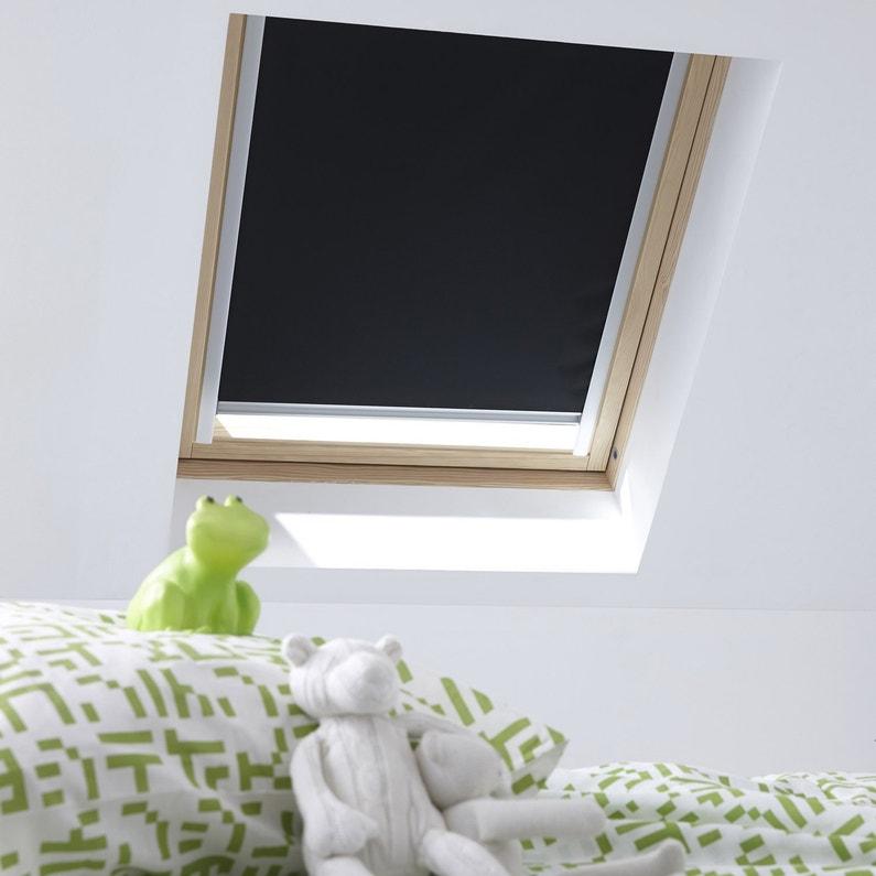 Store fenêtre de toit rideau bleu VELUX Rhl mk00 | Leroy Merlin