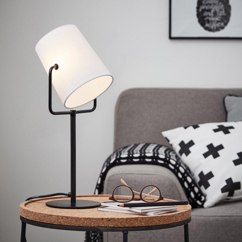 Lampe E14 Bucket Brilliant Tissu Blanc 15 W