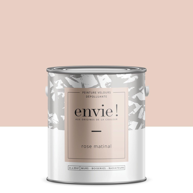 Peinture, multisupport ENVIE, rose matinal, velours, 2 l