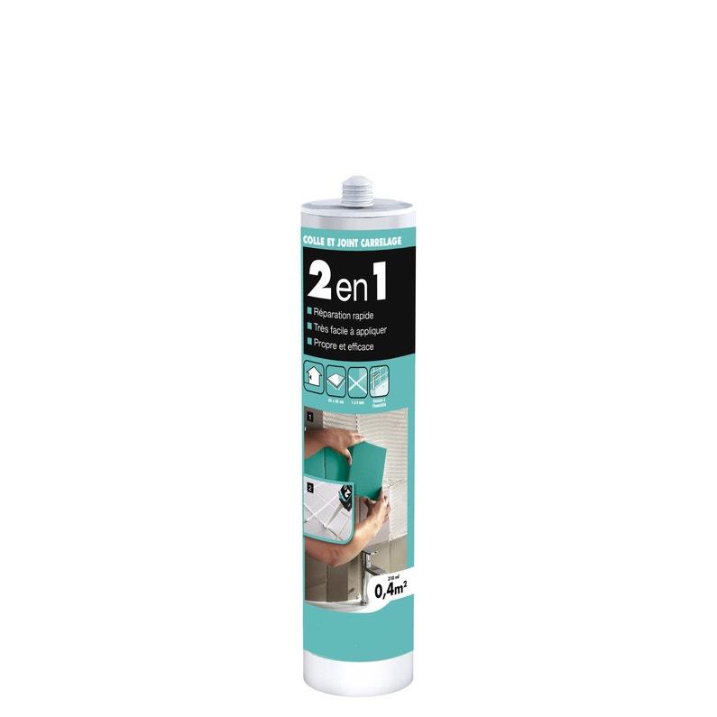 Colle Et Joint 2en1 Carrelage Cermix Blanc 04m² 310 Ml