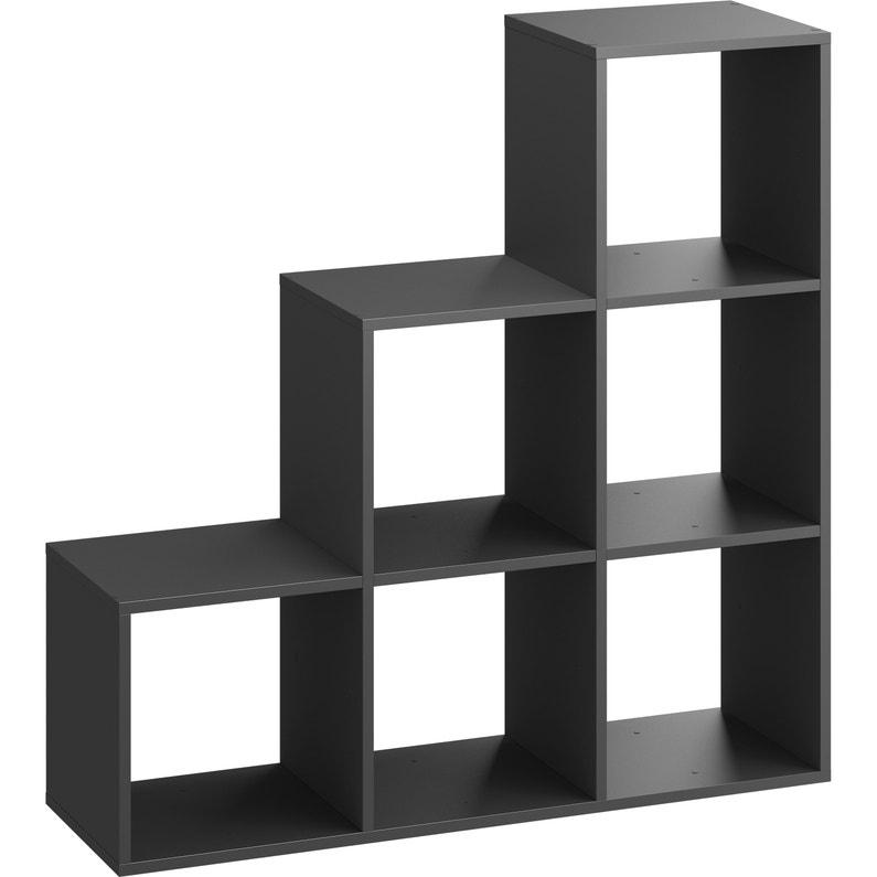 Etagère Cube Décoratif Spaceo Kub Gris H 104 8 X L 104 8 X P 31 7 Cm