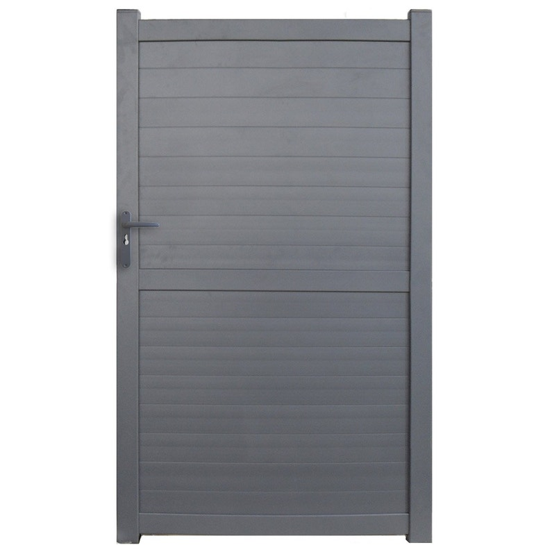Portillon Battant Detroit L 100 X H 175 Cm Anthracite