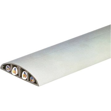Passage de plancher gris pour moulure, H.1.7 x P.7.5 cm