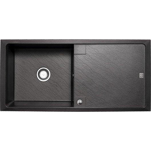 evier de cuisine encastrable ou poser inox quartz r sine leroy merlin. Black Bedroom Furniture Sets. Home Design Ideas