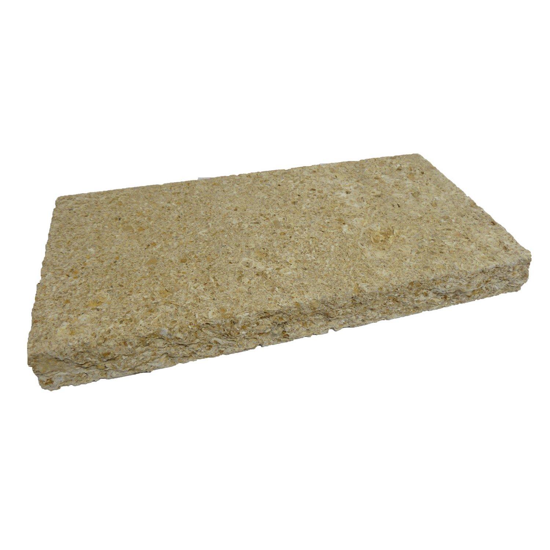 couvre mur plat pierre du gard imitation pierre ton pierre 5 x 25 x 50 cm leroy merlin. Black Bedroom Furniture Sets. Home Design Ideas