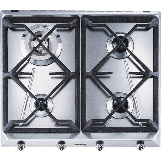 Best plaque de cuisson gaz foyers inox smeg srvgh with table de cuisson leroy merlin - Table de cuisson leroy merlin ...