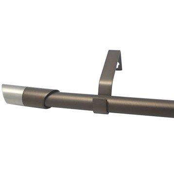 Kit de tringle à rideau extensible Nordik Diam. 16/19mm moka mat 160/300cm métal