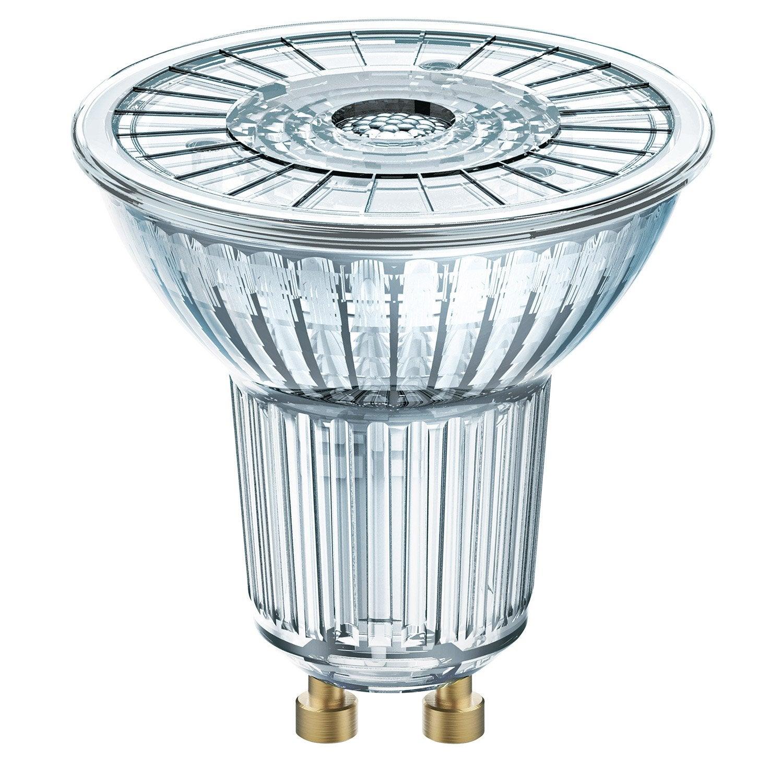 ampoule led gu10 dimmable pour spot 3 1w 230lm quiv 35w 4000k 36 osram leroy merlin. Black Bedroom Furniture Sets. Home Design Ideas