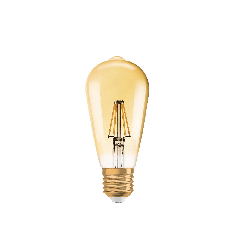 Edison Filament Bulb Led Dimmable 65w E27 650 Lm Equiv 51w 2400k Osram