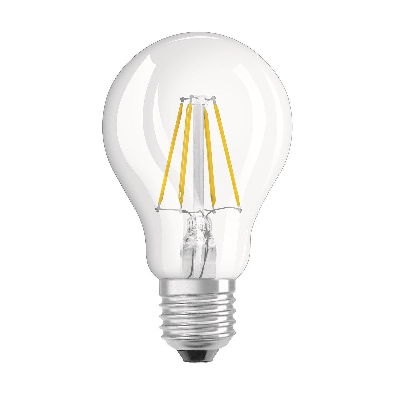 ampoule led filament standard e27 4w 470lm quiv 40w 2700k osram leroy merlin. Black Bedroom Furniture Sets. Home Design Ideas