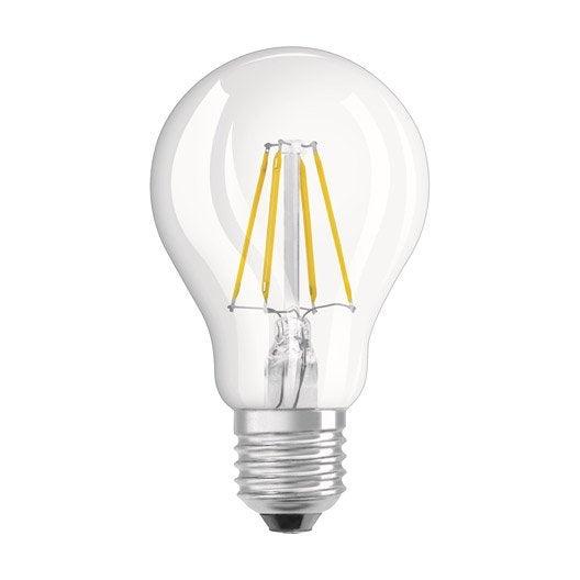 ampoule led filament standard e27 6w 806lm quiv 60w 4000k osram leroy merlin. Black Bedroom Furniture Sets. Home Design Ideas
