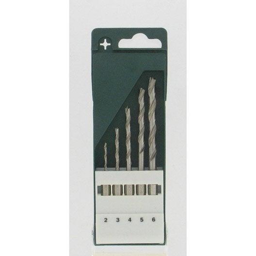 coffret de 5 forets bois bois diam assortiment de forets mm bosch leroy merlin. Black Bedroom Furniture Sets. Home Design Ideas