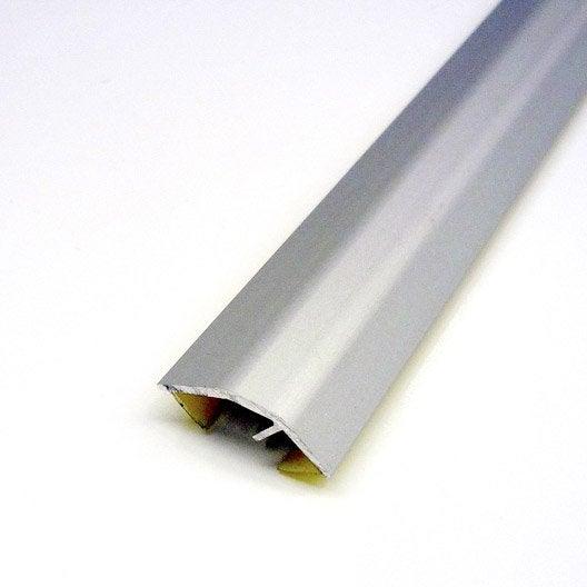 arrêt universel mur, aluminium anodisé l.1 m   leroy merlin
