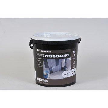 Colle en pâte Haute performance pour carrelage mur et sol, 15 kg, blanc