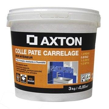 Colle en pâte Prêt à l'emploi pour carrelage mur, 3 kg, blanc