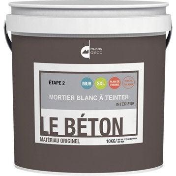 Peinture à effet, Mortier le béton MAISON DECO, blanc, 10 kg