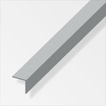 Cornière égale aluminium brossé, L.2.5 m x l.3 cm x H.3 cm