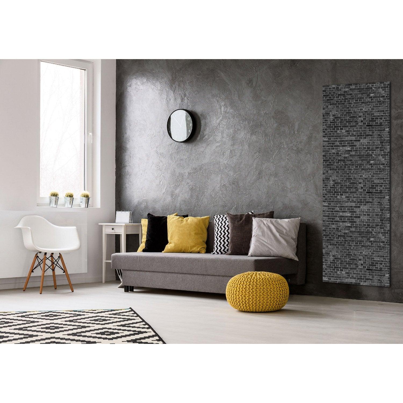 radiateur lectrique rayonnement decowatt brique noire 1200 w leroy merlin. Black Bedroom Furniture Sets. Home Design Ideas