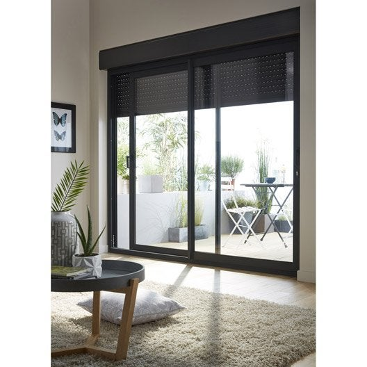stunning cool baie vitre aluminium avec volet roulant excellence h x l cm with volet coulissant. Black Bedroom Furniture Sets. Home Design Ideas