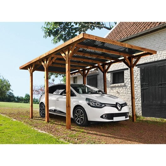 Carport Double Alu Stunning With Carport Double Alu Awesome - Car port bois