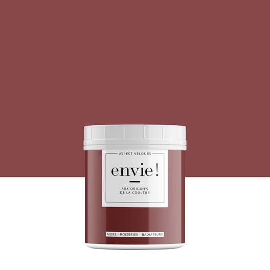 testeur peinture envie rouge terracotta velours luxens l leroy merlin. Black Bedroom Furniture Sets. Home Design Ideas