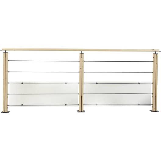 kit 5 tubes 2 demi poteaux acier sapin brut leroy merlin. Black Bedroom Furniture Sets. Home Design Ideas