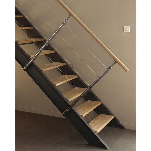 Kit rampe pour escalier lisa escapi leroy merlin - Barre pour rampe d escalier ...
