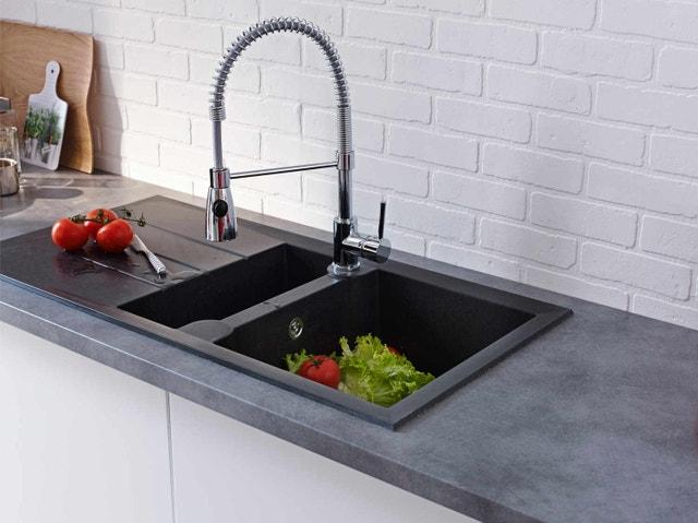 mitigeur de cuisine chrom grohe start loop leroy merlin. Black Bedroom Furniture Sets. Home Design Ideas