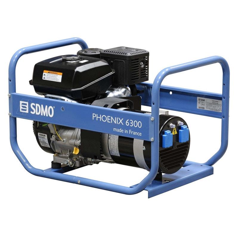 Groupe électrogène essence de chantier SDMO Phoenix 6300, 6500 W ... 1c3d1b9945ab