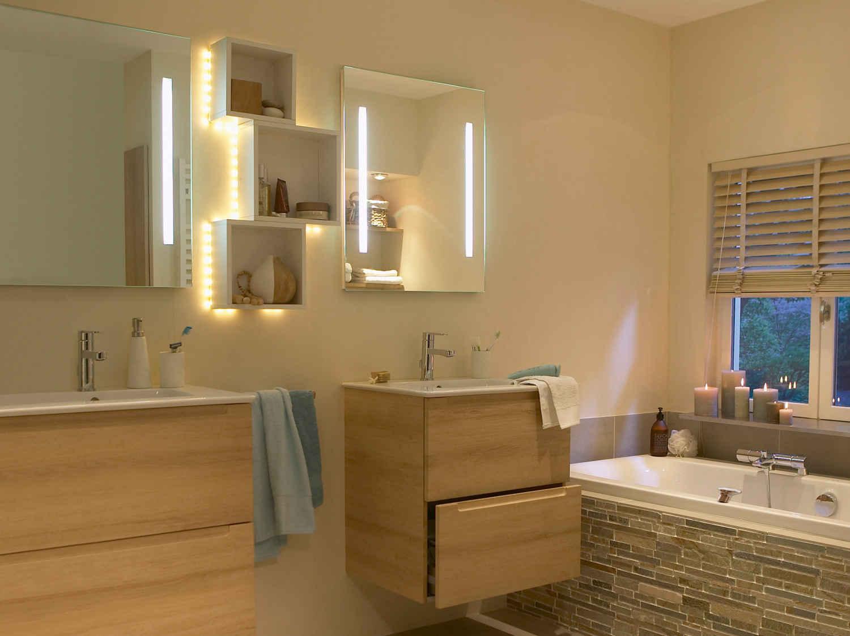 Votre projet salle de bains leroy merlin for Eclairage salle de bain