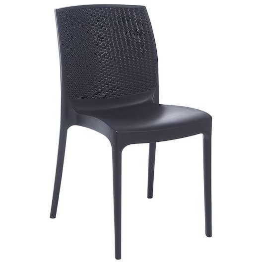 Chaise de jardin en résine tressée Bohême anthracite | Leroy Merlin