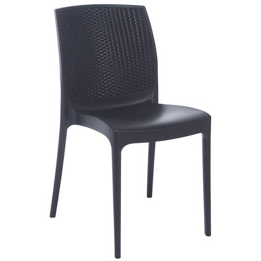 chaise de jardin en r sine tress e boh me anthracite leroy merlin. Black Bedroom Furniture Sets. Home Design Ideas