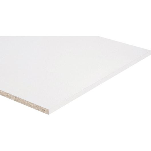 Tablette Agglomre Blanc L250 X L60 Cm Ep18