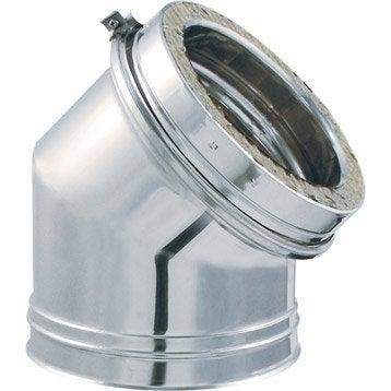Coude pour conduit double paroi ISOTIP JONCOUXDiam.153 mm 45° Ep.30 mm