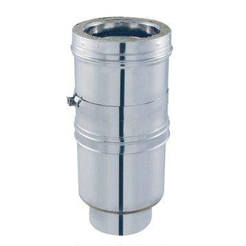 Tuyau réglable pour conduit double paroi ISOTIP JONCOUXDiam.153 mm Réglable Ep.