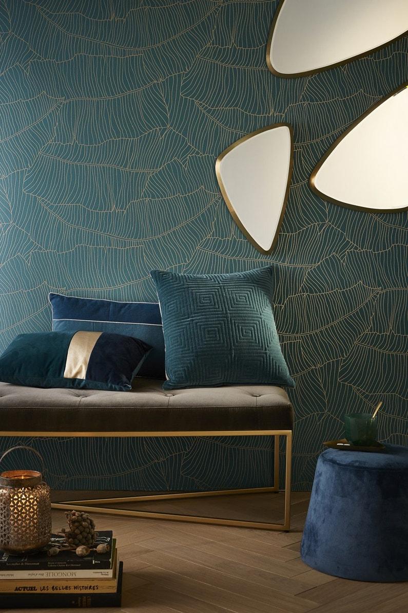 Papier Peint Deco Marine coussins, miroirs, papier peint, en parfaite adéquation