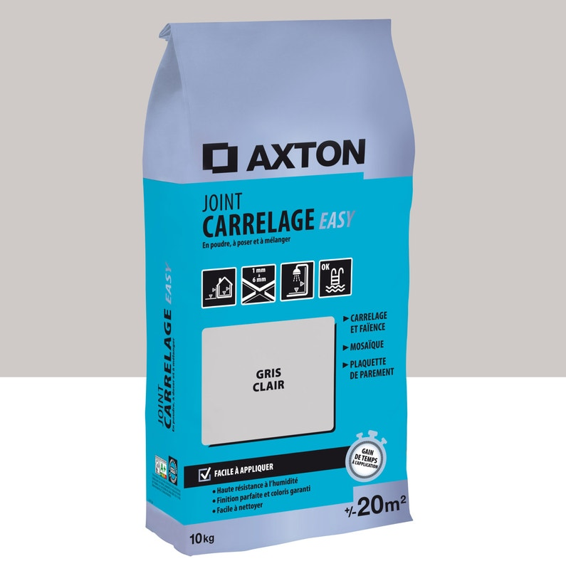 Joint Poudre Axton Easy Gris 10 Kg 20 M²
