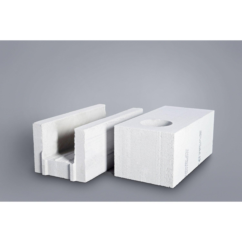 Bloc Béton Cellulaire CELLUMAT 25x25x60 Cm