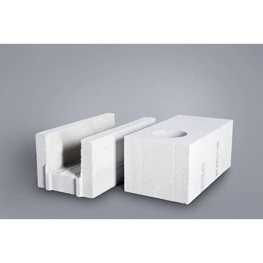 bloc b ton cellulaire cellumat 25x25x60 cm leroy merlin. Black Bedroom Furniture Sets. Home Design Ideas