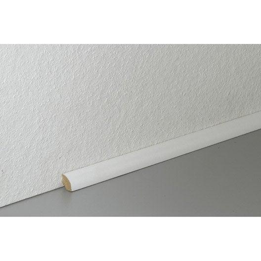 Plinthe pour parquet et stratifi plinthe bois assortie for Table quart de rond