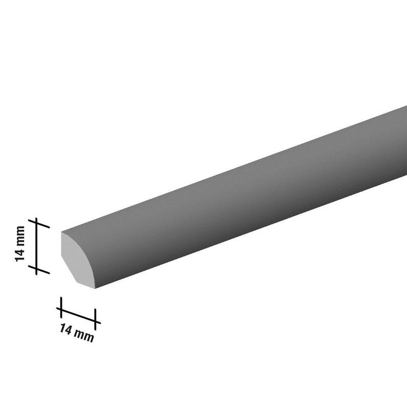 Quart De Rond Sol Stratifié Décor Blanc L220 Cm X H14 X Ep14 Mm
