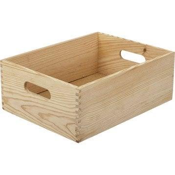 Caisse Solo pin , l.30 x P.40 x H.15 cm
