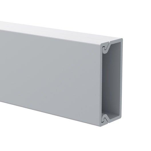 cache-câble blanc pour moulure, h.1 x p.2.2 cm | leroy merlin