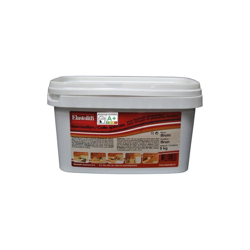 colle et joint elastofix pour plaquette de parement mur 5 kg brun leroy merlin