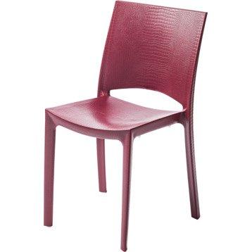 Chaise de jardin en résine Cocco rouge