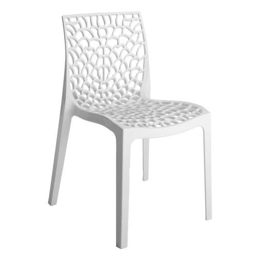 Chaise de jardin en résine Grafik blanc | Leroy Merlin