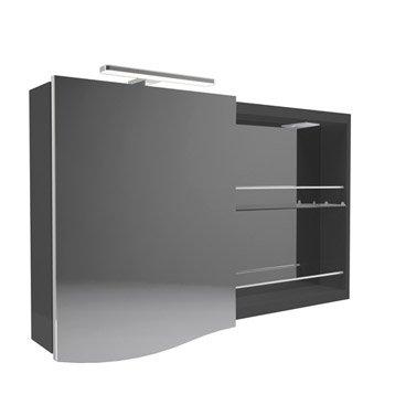 Armoire de toilette armoire salle de bains leroy merlin for Armoire salle de bain noir