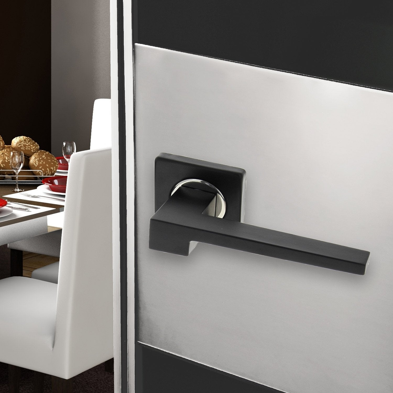 2 poign es sur rosace m rim e inspire aluminium laqu sans trou leroy merlin. Black Bedroom Furniture Sets. Home Design Ideas